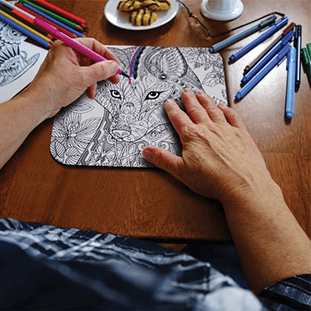 Color-In Mouse Pads